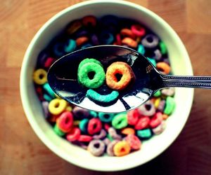 breakfast, cereal, and colours image