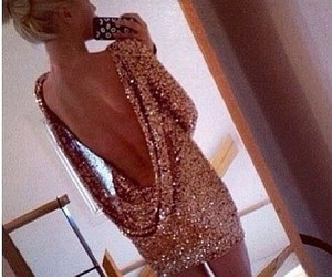 dress, blonde, and sexy image