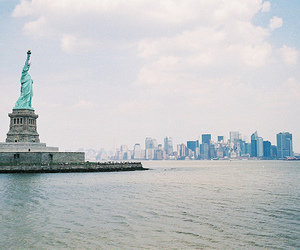 new york and statue of liberty image