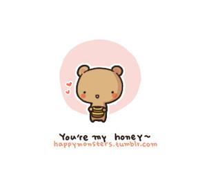 cute, bear, and honey image
