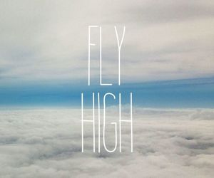 fly, sky, and high image