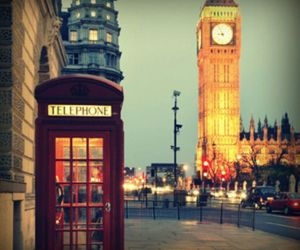 london, place, and telephone box image