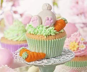bunny, easter, and cupcakes image
