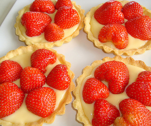 strawberry, food, and tart image