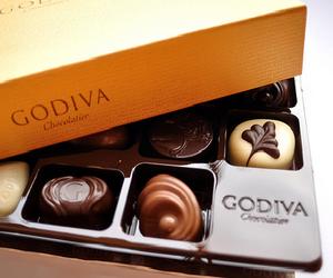 chocolate, godiva, and food image