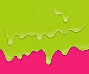 green, pink, and wallpaper image