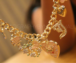bracelet, gold, and photography image