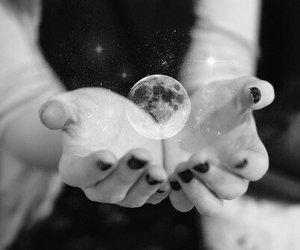 hand and moon image