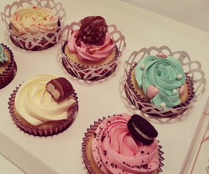 cake, cup cake, and sweets image