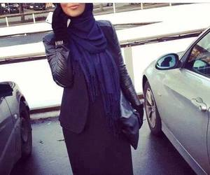 hijab, muslim, and black image