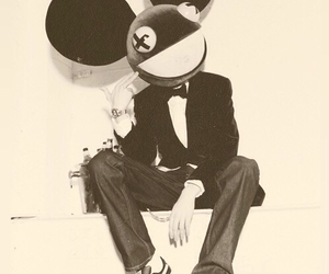 black and white and deadmau5 image