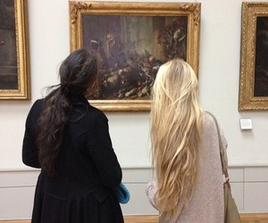 girl, art, and blonde image