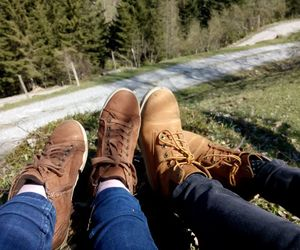 forest, nature, and shoes image