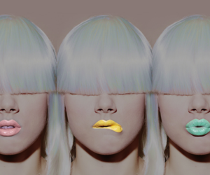 lips, pink, and yellow image