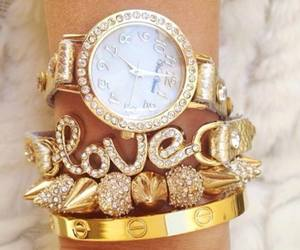 gold, love, and watch image