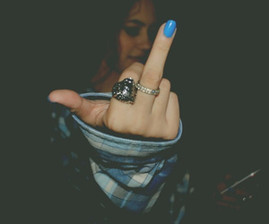blue, finger, and fuck image