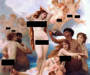 art, naked, and painting image