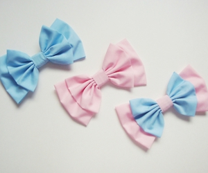bow, pastel, and bows image