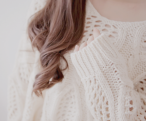 sweater, hair, and white image