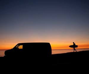 beach, surf, and surfer image