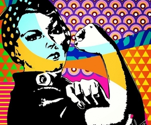 feminism, we can do it, and pop art image