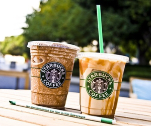 caramel, chocolate, and frappucino image