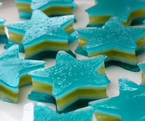 blue, food, and jell-o image