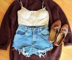 cardigan, crop top, and outfit image