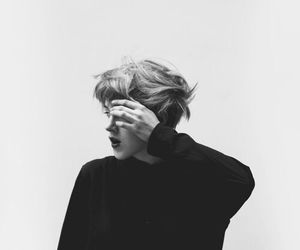 luhan, black and white, and boy image