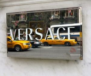 Versace, new york, and taxi image