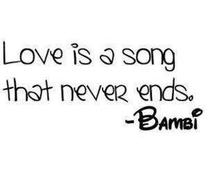 love, bambi, and song image