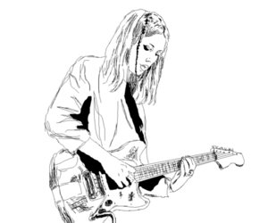 black and white, wolf alice, and ellie rowsell image