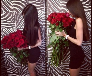 girl, roses, and love image
