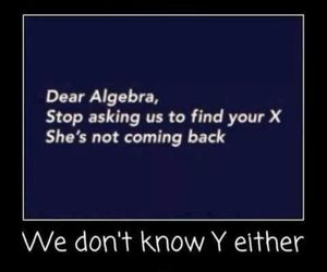 funny, algebra, and math image