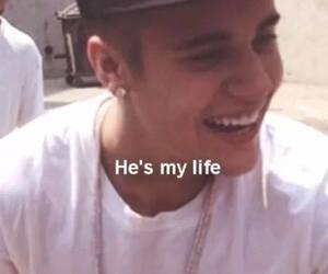 my life and justin bieber image