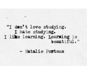 quote, learning, and studying image