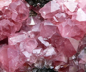 pink, crystal, and stone image