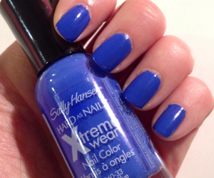 blue, manicure, and nail polish image