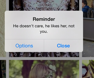her, reminder, and him image