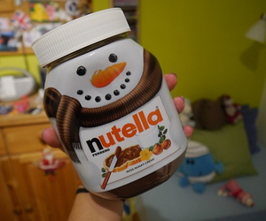 nutella, food, and snowman image