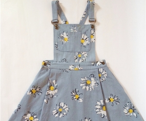 dress, flowers, and overalls image