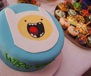 cake, adventure time, and food image