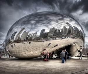 chicago, cloud gate, and the bean image