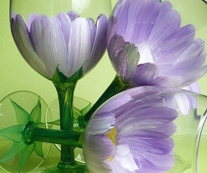 glass, diy, and flowers image