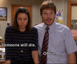 funny, fun, and parks and rec image