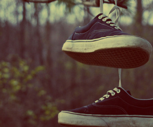 vans, shoes, and tree image