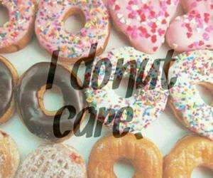 care, food, and donut image