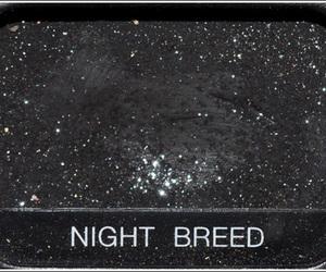 black, night, and eyeshadow image