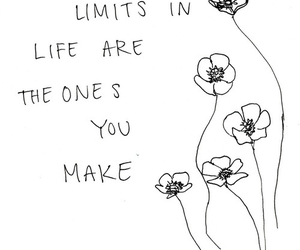 quote, flowers, and limit image