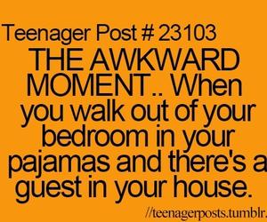 awkward, pajamas, and bedroom image
